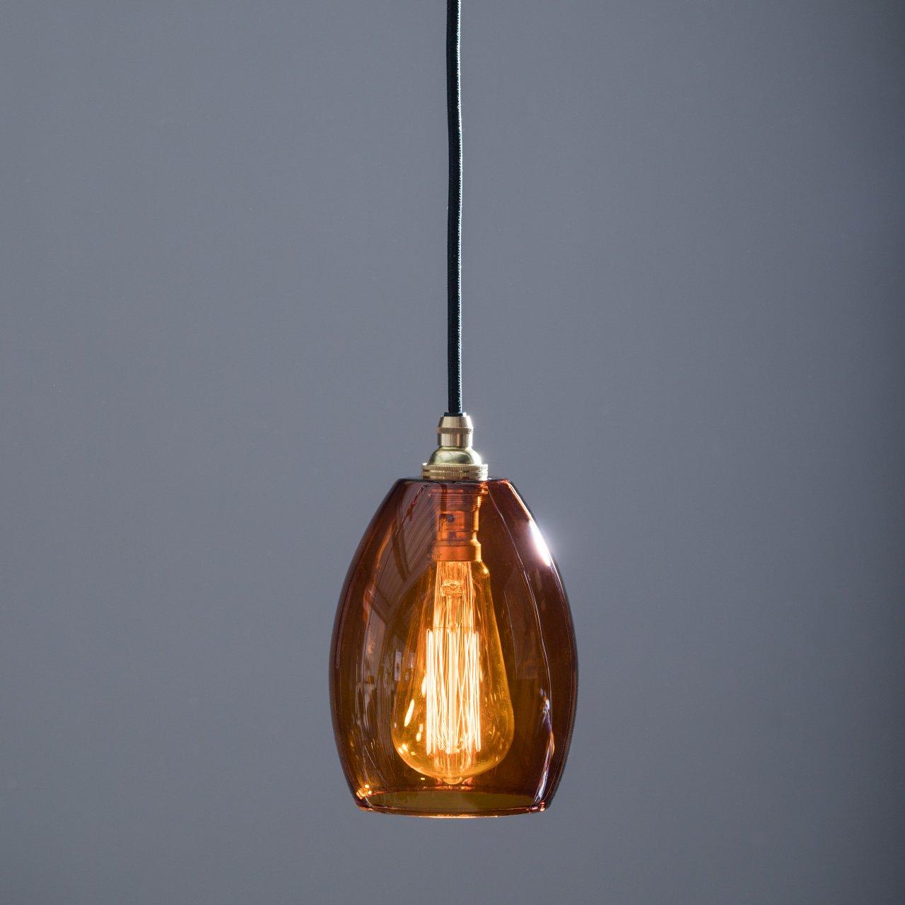 592a77c58b5 Amber Glass Pendant Light Bertie Mid - Glow Lighting
