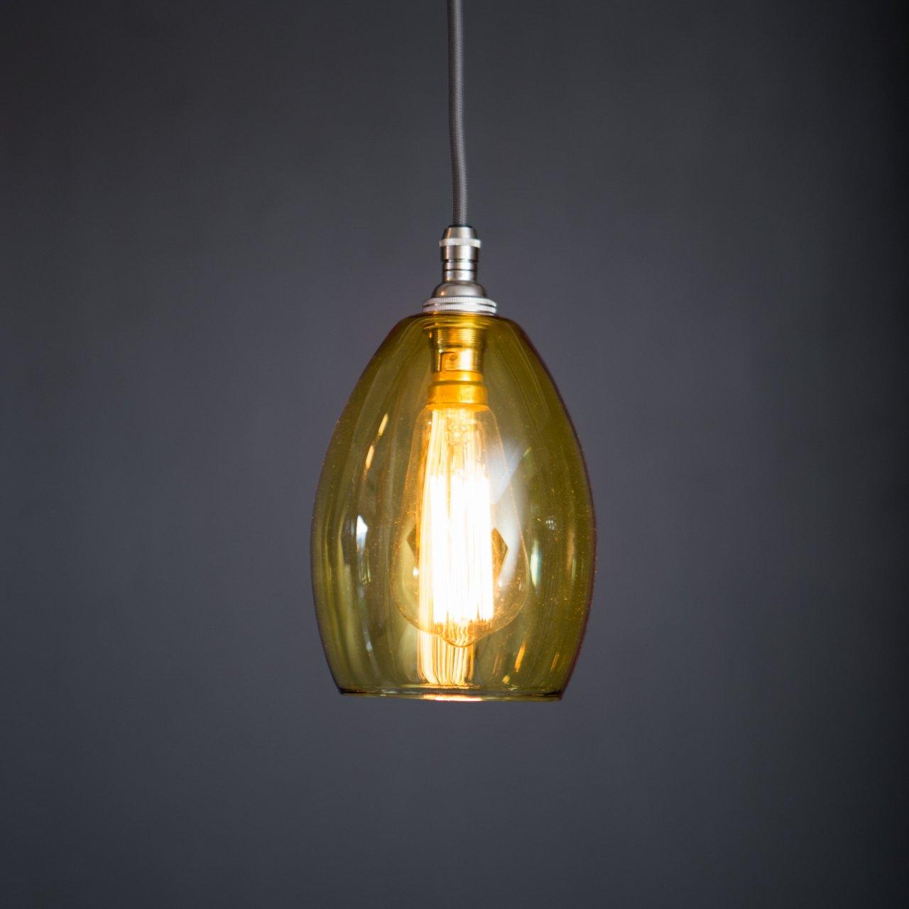 feccaa7ddb2 Yellow glass pendant Light Bertie Small - Glow Lighting