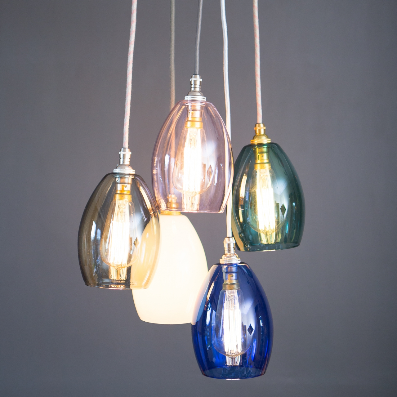 d5ddf9bbba8 Coloured Glass Cluster Light Bertie - Glow Lighting
